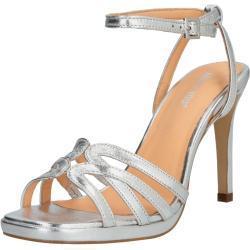 ABOUT YOU Páskové sandály 'Aurora' stříbrná
