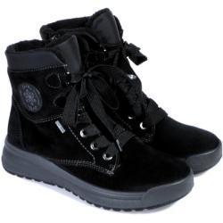 Dámské Boty na klínku Ara v černé barvě v elegantním stylu s výškou podpatku do 3 cm na zimu
