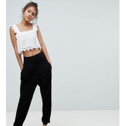 ASOS DESIGN Tall ultimate jersey harem trousers-Black