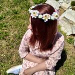 B2B Květinová čelenka - bílá