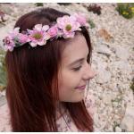 B2B Květinová čelenka - růžová
