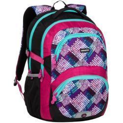 Bagmaster Školní Batoh Bagmaster Theory 20 A Pink/turquoise/white, Pro Dívky, Barevný, Růžová, Stylový, Jedinečný