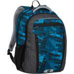 Bagmaster Školní batoh BOSTON 20 B BLACK/BLUE/GREEN, nový zádový systém, design, pro kluky, dvě kapsy naproti sobě