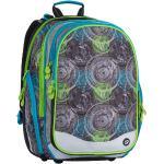 Bagmaster Školní batoh čtyřkomorový Bagmaster ELEMENT 7 B GREY/BLUE/GREEN