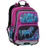 Bagmaster Školní Batoh Pro Prvňáčky Bagmaster Gen 20 A Pink/black/violet/blue, Motiv Koně, Roztomilé, Koník, Pro Dívky