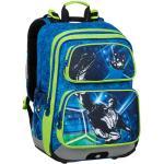 Bagmaster Školní batoh pro prvňáčky BAGMASTER GEN 20 B BLUE/GREEN/BLACK, fotbal, fotbalista, sportovní motiv, pro kluky, novinka, nová kol