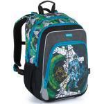 Bagmaster Školní batoh pro prvňáčky BAGMASTER NINY 21 A BLUE/GRAY/BLACK, novinka, fortnite, pro kluky, hry, design, kolekce 2021, vesmír,