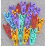 Barevné plastové kolíčky, 26 ks