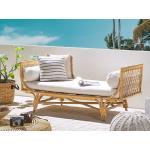 Béžová ratanová lavice BALLAO