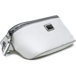 Bílá dámská společenská mini kabelka ledvinka Selah Mahel