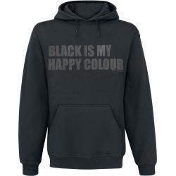 Black Is My Happy Colour - Mikina s kapucí - černá