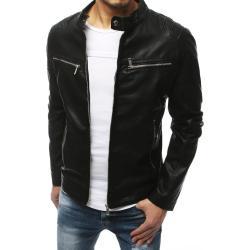 Black men's leather jacket TX3200