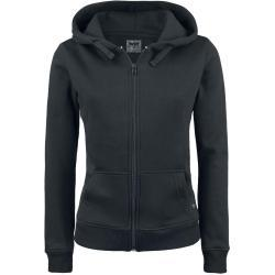 Dámské Mikiny s kapucí Black Premium by EMP v černé barvě s kulatým výstřihem