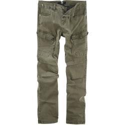 Pánské Kalhoty Black Premium by EMP v zelené barvě