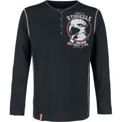 Pánské Košile Black Premium by EMP v černé barvě s dlouhým rukávem s výstřihem do V