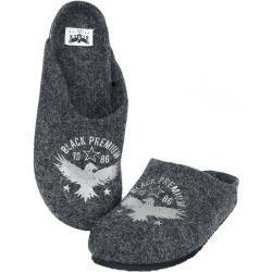 Pánská  Domácí obuv Black Premium by EMP v tmavě šedivé barvě