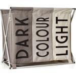 Bonami Béžový koš na špinavé prádlo Sabichi Light, Dark & Coloured