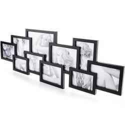 Bonami Černý nástěnný fotorámeček na 10 fotografií Tomasucci Collage
