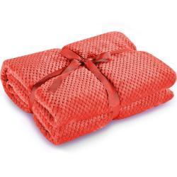 Bonami Červená deka z mikrovlákna DecoKing Henry, 220 x 240 cm
