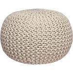 Bonami Krémový pletený puf LABEL51 Knitted