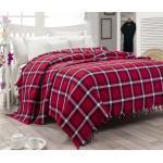 Bonami Lehký bavlněný přehoz přes postel Iskoc Red, 200 x 240 cm