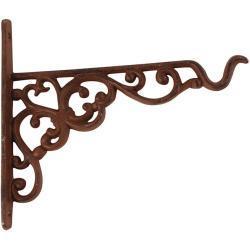 Bonami Nástěnná litinová konzole se závěsem na květináč / krmítko Esschert Design, výška 17,8 cm