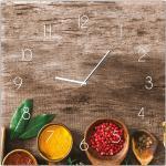 Bonami Nástěnné hodiny Styler Glassclock Pepper, 30 x 30 cm