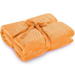 Bonami Oranžová deka z mikrovlákna DecoKing Henry, 220 x 240 cm