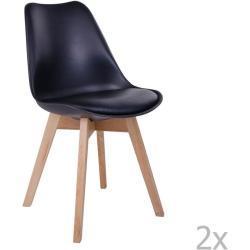 Bonami Sada 2 černých židlí House Nordic Molde