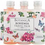 Botanica Cestovní balení kosmetiky růže, gel, šampón a tělové mléko