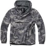 Pánské Bundy Brandit v šedé barvě ve streetwear stylu ve slevě plus size