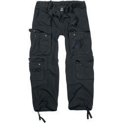 Pánské Kalhoty Brandit v černé barvě loose fit ve velikosti 5 XL