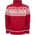 Pánské Pletené svetry Brandit v červené barvě ve streetwear stylu plus size