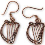 Bronzové náušnice Keltská harfa