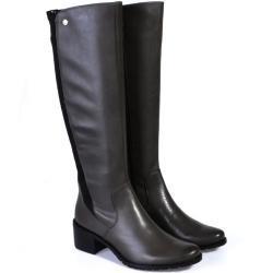 Dámské Kozačky Caprice v tmavě šedivé barvě Standartní na zimu