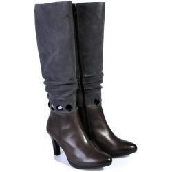 Dámské Kozačky Caprice v tmavě šedivé barvě v elegantním stylu na zimu