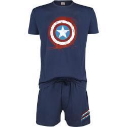 Captain America - Shield - Pyžamo - námořnická modrá