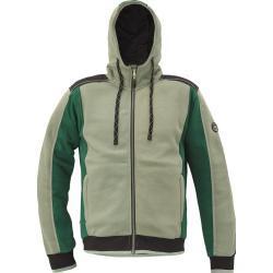 Cerva Pánská mikina na zip s kapucí DAYBORO - Mechově zelená   XXXXL