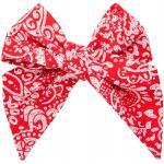 Červená dámská kravata se vzorem