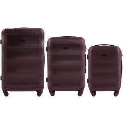 Cestovní kufry sada WINGS 203 RED L,M,S