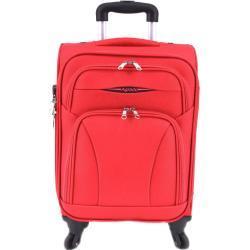 Textilní kufry Agrado v moderním stylu na čtyřech kolečkách