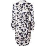Chi Chi London Koktejlové šaty 'Albina' bílá / námořnická modř