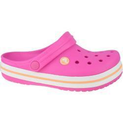 Dětské Páskové sandály Crocs Crocband Clog ve stříbrné barvě v lakovaném stylu ve velikosti 34 na léto