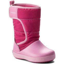Dívčí Kozačky Crocs v růžové barvě na zimu