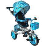 Dětská tříkolka Kruzzel 2v1, modrá, 6052