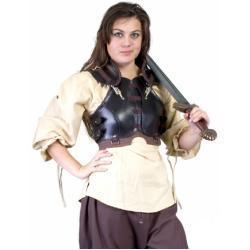 Dámská kožená zbroj pro zlodějku - černohnědá - velikost M/L