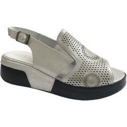 Dámské Páskové sandály Looke ve stříbrné barvě v moderním stylu na léto