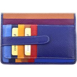 Dámská/pánská kožená dokladovka k uložení kreditních karet a dokladů - tmavě modrá