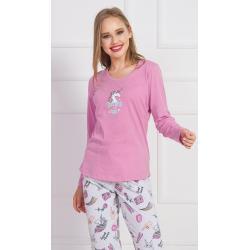 Dámské Klasická pyžama ve velikosti XL s dlouhým rukávem
