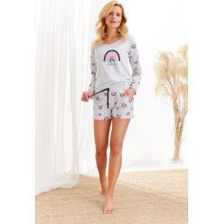 Dámské pyžamo Taro Mocca 2439 dł/r S-XL Z'20 sv.šedá M
